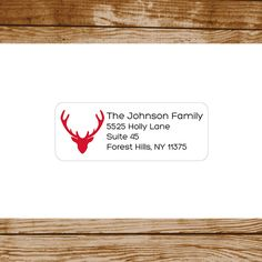 Personalized Return Address Holiday Labels Custom Designed Made to Order by #GothamPops on Etsy