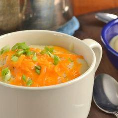 Light Baked Potato Cauliflower Soup