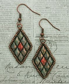 Linda's Crafty Inspirations: Free Beading Pattern - Toni Earrings