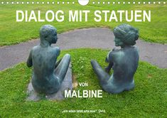"""Eine lebende Statue besucht eine Ausstellung (Monatskalender, 14 Seiten )  Ovid beschreibt in seinen Metamorphosen die Verwandlung der Statue von Pygmalion in eine lebendige Frau und sagt dazu: """"Ars adeo latet arte sua"""", die Kunst bleibt so verborgen durch die Kunst. Der Garten von Ursula Malbin mit seinen Statuen in Signal de Bougy lädt dazu ein, Statuen lebendig werden zu lassen. #malbine #signal-de-bougy #livingstatue #romanalaraundfru #kunstvonfru #fru.ch Ursula, Garden Sculpture, Outdoor Decor, Home Decor, Products, Art Teachers, Wall Calendars, Statues, Decoration Home"""