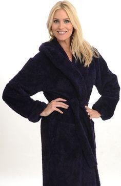 Women`s Luxurious Terry Cotton Full Length Bathrobe Robe