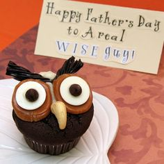 Hoot Owl Cupcakes |, a Father's Day craft inspired by Winnie the Pooh, with step by step instructions provided by Spoonful.com. Enjoy this fun craft activity with your kids and family.