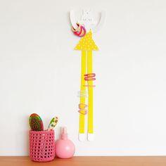 Hair accessories holder yellow princess
