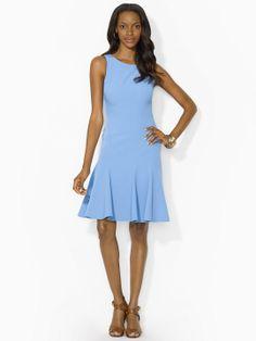 ✭ Sleeveless Stretch-Crepe Dress ✭ by Ralph Lauren