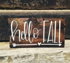 This item is unavailable Fall Sign Hello Fall Sign Hand Painted Sign by TheFreckledGoose Wood Arrow, Pallet Art, Pallet Wood, Shabby, Happy Fall Y'all, Fall Signs, Craft Night, Hello Autumn, Autumn Fall