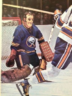 09e740ad8 Roger Crozier · HOCKEY GOALIEHockey gamesHockey Players ICE HOCKEY.Vintage  sportswearGoalie maskBuffalo SabresHockey ...
