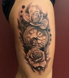 Pocket watch tattoo - 100 Awesome Watch Tattoo Designs <3 <3