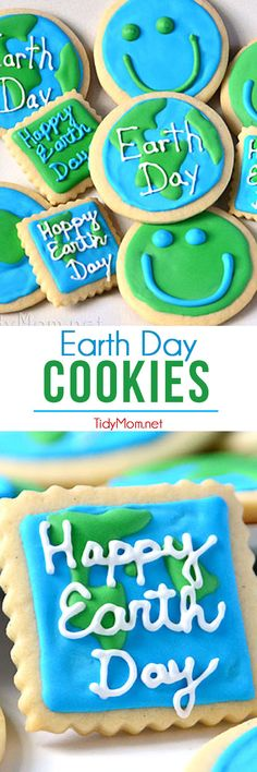 Earth Day Cookies at TidyMom.net #EarthDay