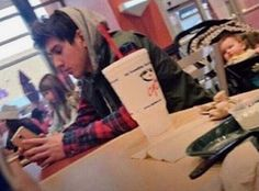 """""""When the cute boy in the food court takes a picture of you the same time you are taking one of him"""""""