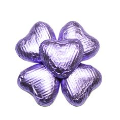 100 Chocolate Hearts, Violet, £20.95