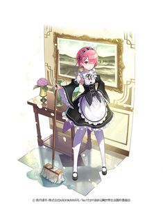 Ram (Re:Zero) - Re:Zero Kara Hajimeru Isekai Seikatsu - Wallpaper - Zerochan Anime Image Board Kawaii Anime, Re Zero Wallpaper, Re Zero Rem, Zero 2, Character Art, Character Design, Ram And Rem, Anime Titles, Anime Maid