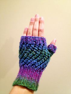 Free pattern: Prism Slouchy Hat with Matching Fingerless Gloves!    http://knitsbybritt.blogspot.com/2012/11/prism-slouchy-hat-with-matching.html