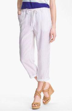 30deb4f52f Caslon® Slub Linen Crop Pants available at  Nordstrom Petite Women