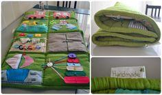 Развивающий коврик - прекрасная игрушка, сделанная для малыша своими руками