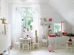 Click to see more pics of this little girl's room...if I EVER need to do a little girls room again, there are lots of ideas!