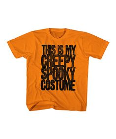 Another great find on #zulily! Orange 'Creepy Spooky Costume' Tee - Toddler & Kids #zulilyfinds