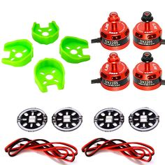 LHI DX2205 2300KV RC Brushless Motor + 4 Pcs Motors Protected Base +4 Pcs LED Circle Board for FPV Racing Drones (2CW + 2CCW). The DX2205/2300KV brushless motor is specially designed for 200-300 sizes multirotors, which weighs only 35g. The DX2205/2300KV brushless motor is suitable for high speed ESC, light weight fixed-wing copter. And it offers great performance at affordable price. Each motor is carefully balanced and tested before shipped out from factory. Equipped with…