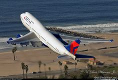Aviation Photo Boeing - Delta Air Lines Boeing 747 400, Boeing Aircraft, Passenger Aircraft, Airbus A380, Republic Airlines, Photo Avion, Airplane Photography, Food Photography, Jumbo Jet
