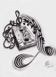 Image detail for -Music Cassette Design by ~ZenBenZen on deviantART music tattoo ideas Music Tattoo Designs, Music Tattoos, New Tattoos, Body Art Tattoos, Music Designs, Music Lover Tattoo, Small Tattoos, Graffiti Tattoo, Music Tattoo Sleeves