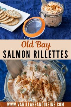 Old Bay Salmon Rillettes are the perfect mashup of French cuisine with Maryland flavor. Spread over your favorite cracker for a delicious appetizer that will delight friends and family. #oldbaysalmon, #oldbay, #salmonrillettes, #rillettes, #salmon, #appetizers