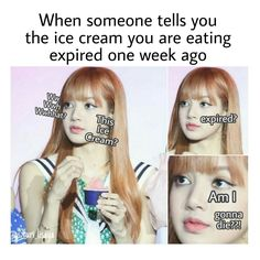 Yet no matter how much I laugh at this.I know that this has happened. Blackpink Funny, Memes Funny Faces, Funny Kpop Memes, Funny As Hell, Hilarious, Blackpink Memes, Best Memes, South Korean Girls, Korean Girl Groups