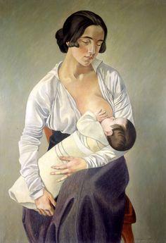 GINO SEVERINI (Cortona 1983 – Parigi 1966), Maternità, 1916, olio su tela, 92 x 65, Cortona, MAEG, Museo dell'Accademia Etrusca e della città di Cortona.                                         Mostra NOVECENTO a Forlì... merita!