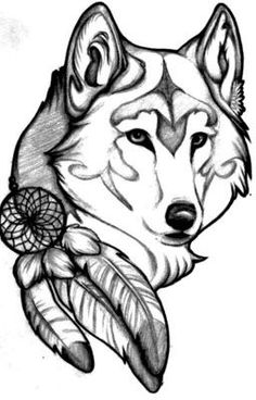 Luna is a 16 year old girl and she's a werewolf, but she doesn't know that yet. Her mother is dead and her father is an. Pencil Art Drawings, Easy Drawings, Animal Drawings, Drawing Sketches, Tattoo Drawings, Wolf Sketch, Wolf Tattoo Design, Wolf Tattoos, Native American Art