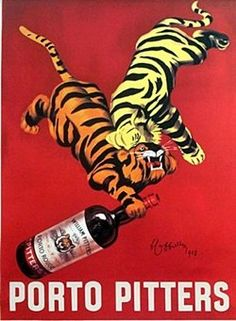Porto Pitters, poster art made by Italian Leonetto Cappiello. Vintage Advertising Posters, Poster Vintage, Vintage Advertisements, Funny Advertising, Print Advertising, Wine Poster, Poster Art, Poster Prints, Poster Ideas