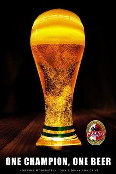 football + beer