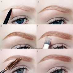 Brow tutorial for light/blonde or sparse brows.