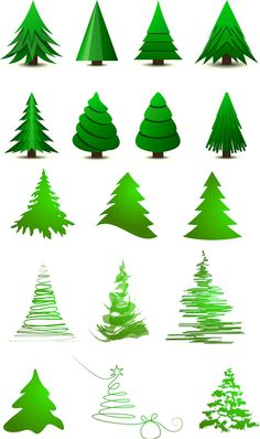 Stylized #Christmas tree layout #vector