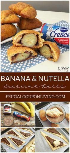 le thème Nutella Crescent Rolls sur Pinterest | Desserts De Croissant ...