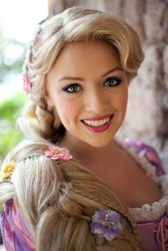 """""""One of the Most Gorgeous Rapunzels that I've Seen!"""" OMG this is the Rapunzel we met in WDW she was perfect & one of my favorite face characters on the trip!"""