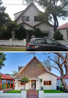 House Renovation Ideas - 17 Inspirational Before & After Residential Projects | An old 1920s home in Sydney, Australia, was given an entirely new look while still maintaining the original structure.