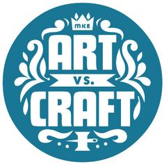 Art vs. Craft logo blue by faythelevine