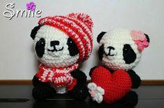 osos panda amigurumi pagina japonesa