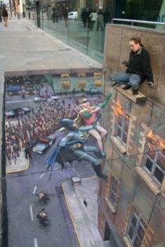 street art, chalk.