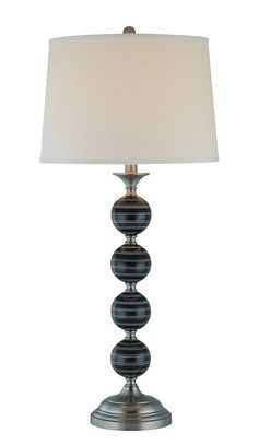 Lite Source LS-21158 Bryndis 1 Light Black and Chrome Table Lamp