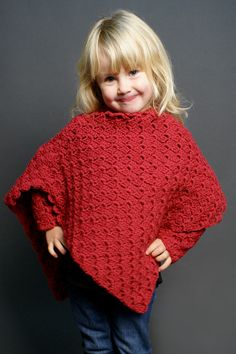Perfect for the young fashionista, Crochet4mybutterfly's Box Stitch Poncho for children is quick to crochet in www.elann.com/commerce.web/product.aspx?refsource=PIN&catID=&id=118556 Peruvian Highland Wool.  Complete this adorable look with a pair of matching Box Stitch Fingerless Gloves.
