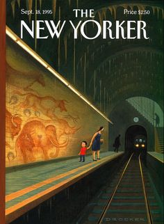 How does the New Yorker get this awesome combo of color and texture in all their covers?