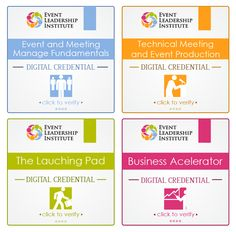 Create an online badge credential for the Event Leadership Institute by sonarart