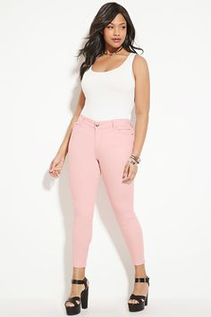 Plus Size Skinny Jeans | Forever 21 PLUS - 2000185510