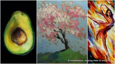 Consider these 20 oil and acrylic painting ideas for enthusiastic beginners.