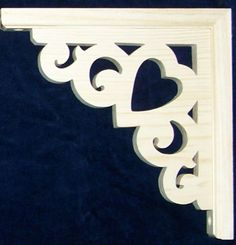 L G Victorian Gingerbread Fretwork Heart Corner Trim Brackets 10"