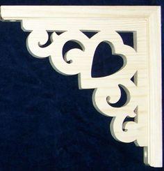 "L G Victorian Gingerbread Fretwork Heart Corner Trim Brackets 10""   eBay"