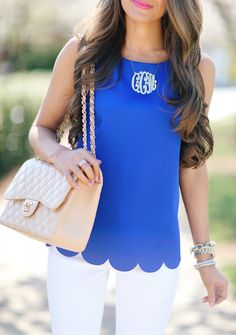 Southern Curls & Pearls: Scalloped Hem Tank (Only $39!)