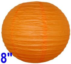 """Red Orange Chinese/Japanese Paper Lantern/Lamp 8"""" Diameter - Just Artifacts Brand by Just Artifacts. $1.50. Great for party and home decoration. Check Just Artifacts products for more available colors/sizes."""