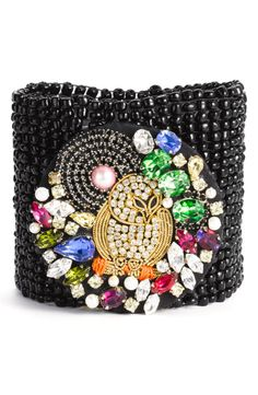 Juicy Couture 'Hard Core Couture' Beaded Stretch Cuff