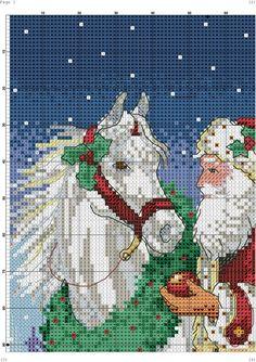 Santa and Horse 1