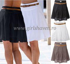 Fusta de vara accesorizata cu curea My Style, Skirts, Fashion, Moda, Fashion Styles, Skirt, Fasion, Skirt Outfits